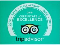 Trip Advisor Hall of Fame certificate, 2014 - 2017