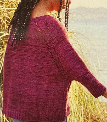 knitted shirt called a swoncho, sweater/poncho