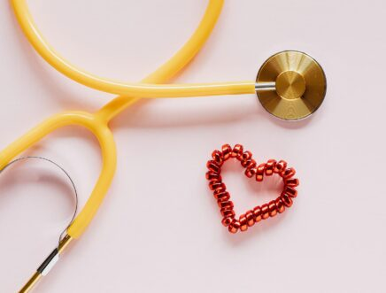 Stethoscope with bead heart