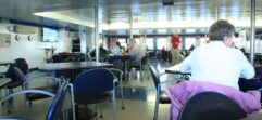 Inside the dining area of the SS Badger